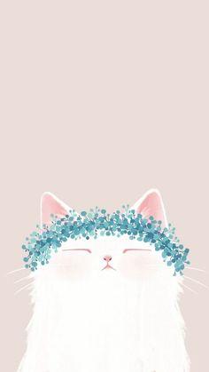 Cute cat drawing, animal drawings, cute illustration, cute cat wallpaper, i Cartoon Wallpaper, Wallpaper Gatos, Tumblr Wallpaper, Mobile Wallpaper, Wallpaper Backgrounds, Colorful Wallpaper, Cute Cat Wallpaper, Cat Phone Wallpaper, Handy Wallpaper