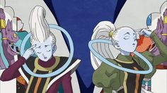 Whis, Vados, Champa, and Beerus