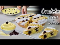 CROSTATA CREMOSA LIMONE E AMARENE 🍋 - YouTube Lemon Cream Cheese Bars, Cake Factory, Best Pie, Italian Recipes, Cooking Recipes, Fun Recipes, Cheesecake, Good Food, Baking
