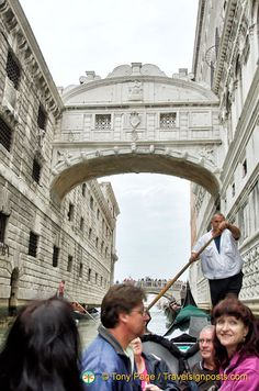 Gliding under the Bridge of Sighs on a Venice Gondola Ride
