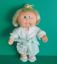 Vintage Cabbage Patch Girl Doll Splashin Kids All Vinyl With Cornsilk Hair  #Coleco #DollswithClothingAccessories