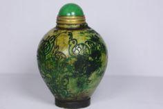 Chinese-rare-Beautiful-Old-jade-carvingsnuff-bottle-d520