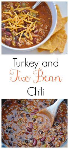 The Art of Comfort Baking:  Turkey and Two Bean Chili #chili #comfortfood