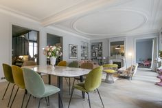 A Haussmannian apartment decorated by the interior design studio L'appartement Parisien - PLANETE DECO a homes world Room Design, Home, Room Interior Design, Dining Room Design, Apartment Decor, Home Deco, Modern Interior Design, Interior Design, Modern Interior