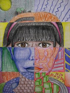 Always looking for new projects to introduce these! Love this idea.  8th Grade Elements of Art Portrait