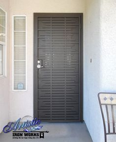 DIY Residence Safety and security: A New Outpost Asford - Wrought iron security door - Wrought Iron Security Doors, Steel Security Doors, Security Screen, Wrought Iron Doors, Main Entrance Door Design, Door Gate Design, Main Door, Grill Gate Design, Door Grill