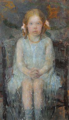 Olga Boznańska - Dziewczynka z różowymi wstążkami