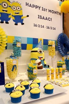 Awesome Despicable Me party! See more party ideas at CatchMyParty.com!