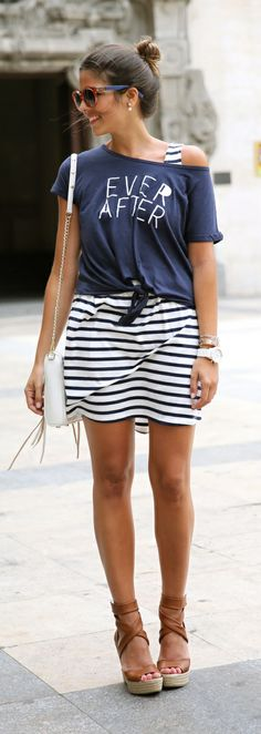 how to wear stripe this spring