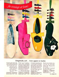 They had a lot of fun with color in the 60s! Perfect for MOD dresses and at 4.97 I could just die