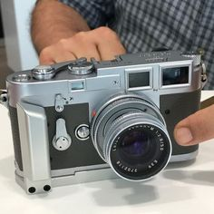Original double stroke Leica M3 with tear drop lugs and no frame line preview lever. Reskinned with modern grey leatherette and 50mm Elmar-M f/2.8 lens. via Leica on Instagram - #photographer #photography #photo #instapic #instagram #photofreak #photolover #nikon #canon #leica #hasselblad #polaroid #shutterbug #camera #dslr #visualarts #inspiration #artistic #creative #creativity