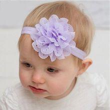 Hairbands flor de cabelo acessórios de cabelo crianças faixa de cabelo de flores Headband Elastic Hairband(China (Mainland))