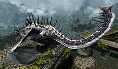 This is an image of a dragon included in skyrim - the creatures that the main games' narrative is based on. Skyrim, Creatures, Wallpaper, Desktop Backgrounds, Image, High Definition, Dragons, Vanilla, Wraps
