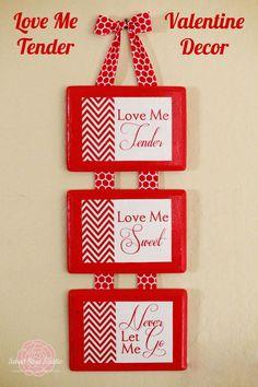 Love Me Tender Valentine Decor from Sweet Rose Studio #valentine #DIY