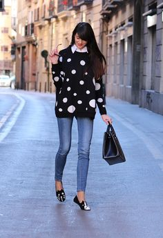 @roressclothes clothing ideas #women fashion The Flattering Polka Dot Pattern