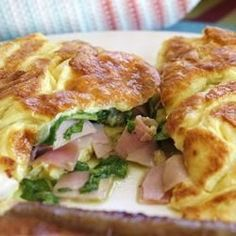 Spinach, Ham and Cheese Omelet.. Dinner for one. ;-)