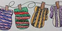 First Grade's Pattern Mittens - Mrs. Jackson's Art Room
