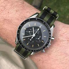 REPOST!!!  Speedmaster on my favorite @cincystrapworks nato today. . #Omega #Speedmaster #watch #watches #womw #wruw #watchesofinstagram #wornandwound #wis #wristporn #watchfam #horology #Hodinkee #natostrap #chronograph  repost | credit: ID @kidwizzle (Instagram)