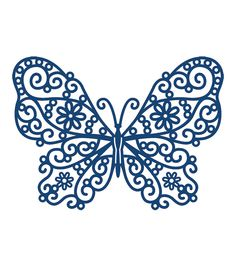 Tattered Lace Metal Die-Demure Butterfly