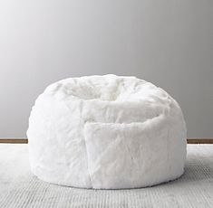 RH Baby & Child& Luxe Faux Fur Bean Bag - White:Undeniably the softest, coziest seat in the house, our luxurious faux fur bean bag offers sin. Recycled Plastic Adirondack Chairs, Home Depot Adirondack Chairs, Oversized Bean Bags, Baby Bean Bag Chair, Best Baby High Chair, Bamboo Dining Chairs, Faux Fur Bean Bag, Floor Protectors For Chairs, Chairs For Rent