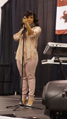 "Mary Mary's Erica Campbell Performs at ""Mind, Body & Soul"""
