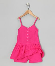 Another great find on #zulily! Pink Punk Button-Up Romper - Infant, Toddler & Girls #zulilyfinds