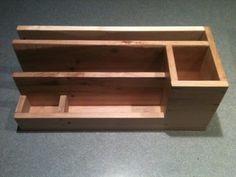 Pallet Wood desk organizer