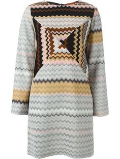 Shop Missoni zig-zag knit shift dress in Gallery from the world's best independent boutiques at farfetch.com. Shop 300 boutiques at one address.