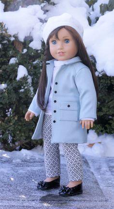 American Girl muñeca ropa. Hielo azul Wind por NoodleClothing