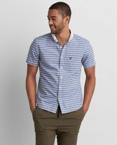 Go for bold.  Shop the AEO Printed Poplin Shirt  from American Eagle Outfitters. Check out the entire American Eagle Outfitters website to find the best items to pair with the AEO Printed Poplin Shirt .