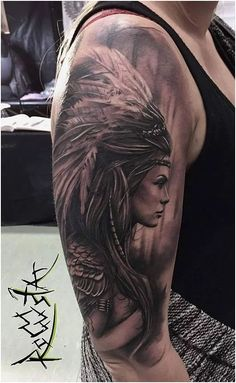 What does indian tattoo mean? We have indian tattoo ideas, designs, symbolism and we explain the meaning behind the tattoo. Tattoos Arm Mann, Girl Arm Tattoos, Sleeve Tattoos For Women, Wolf Tattoos, Arm Tattoos For Guys, Leg Tattoos, Body Art Tattoos, Warrior Tattoos, Man Arm Tattoo