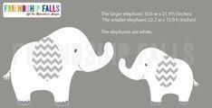 Chevron Elephant Set Decal Small elephant Decal by FriendshipFalls
