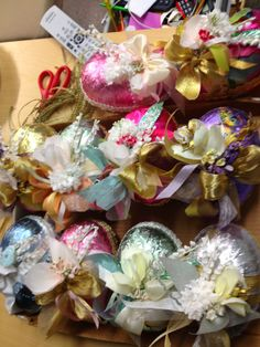Foiled Egg Surprise Boxes by Aimee Ferre, hide all your tiny Easter treasures in these little boxes.  Tuck away in an Easter basket filled with chocolate eggs or jelly beans.