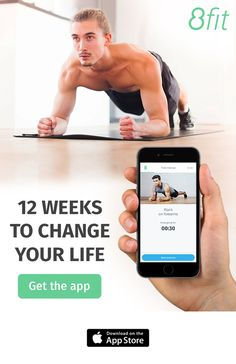 Download the 8fit app and start your 12-week transformation. Build a diet plan to match your lifestyle and develop new eating habits with healthy recipes. Our short HIIT workouts, personal trainer, custom meals and food ideas will help you reach your health & fitness goals before you even know it.