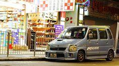 Suzuki WagonR by Rupert Procter, via Flickr Ladies Market, Suzuki Wagon R, Kei Car, Old School Cars, City Car, Small Cars, Custom Cars, Cars And Motorcycles, Joker Art