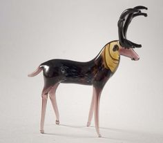 Hand-Blown Glass Deer Collectible  Figurine (code 380)
