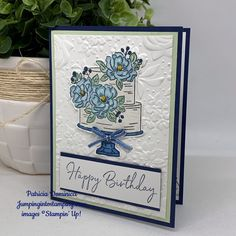 Mixed Up Monday – Happy Birthday to You – Jumping Into Stamping Happy Birthday To You, Happy Birthday Ecard, Happy Birthday Cakes, Handmade Birthday Cards, Birthday Cake Card, Birthday Blessings, Stamping Up Cards, Mothers Day Cards, Baby Kind