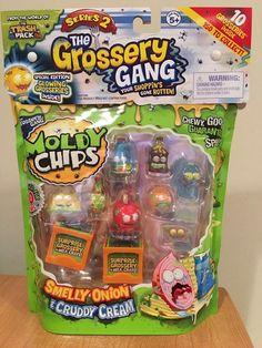 New Grossery Gang Series 2 ~ YUCK BAR ~ 3 Gold Surprise Blind Bags 6 Figures