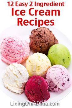 12 Easy Ice Cream Recipes you can make without a machine. Try these easy 2 ingredient homemade ice cream recipes you can make at home without a machine! You're going to love how easy, creamy and delicious they are! Sorbet Ice Cream, Fruit Ice Cream, Healthy Ice Cream, Ice Cream Treats, Ice Cream Desserts, Mini Desserts, Frozen Desserts, Easy Desserts, Strawberry Ice Cream