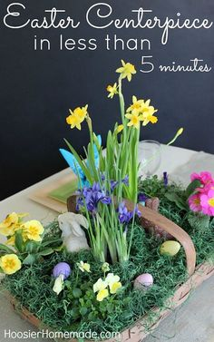 EASTER CENTERPIECE #easter #centerpiece #tablescape