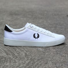 Fred Perry Spencer Canvas Shoe (White) #fredperry #spencer #shoe #menswear #footwear