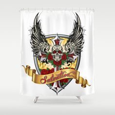 ART IS SALVATION Shower Curtain by Angel Torres - $68