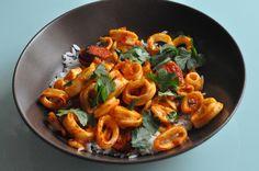 Calamars Chorizo / Poivron à la plancha - Esprit Barbecue et Vous