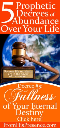 All the works God has for your life were completed before the foundation of the world. He's ready to pour them out on you! Speak this prophetic decree for fullness of your eternal destiny over yourself, and watch what God does in your life!