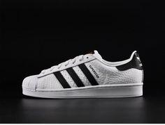 Adidas Superstar White Black Bumpy Skateboarding Shoes #adidas #Trainers