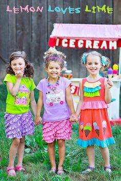 Spring 2011 Preorders   Lemon Loves Lime   Children's Boutique Clothing Online - Lemon Loves Lime Spring 2014 Girls Ice Cream Parlor Dress *PREORDER*