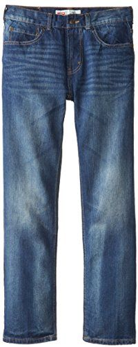 Levi's Big Boys' 505 Regular Fit Jean, Grey/Blue, 14/Regular