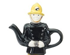 The 'Where's the Fire?' British Fireman Teapot