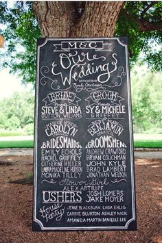 fun way to introduce the bridal party.