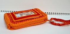 Cellphone Wristlet Crochet Small Purse ID Cardholder